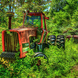 Tired and Retired allis Chamlers 7060 Antique Tractor Farming Art by Reid Callaway