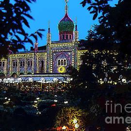 Tivoli Gardens At Night 4 by Bob Phillips