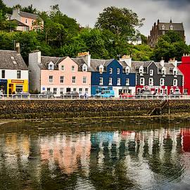 Tobermory Main Street and Reflections - Scotland by Stuart Litoff