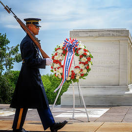 Tomb Of The Unknowns Arlington National Cemetery Virginia Usa  by Joan Carroll