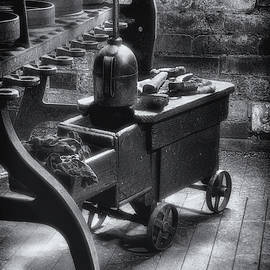 Tool Cart bw by Jerry Fornarotto