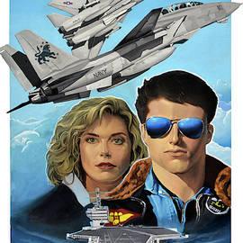 TOP GUN movie poster  by Atanasov Art