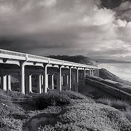 Torrey Pines Bridge and Rain Clouds by William Dunigan