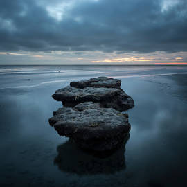 Torrey Pines Low Tide Stones by William Dunigan
