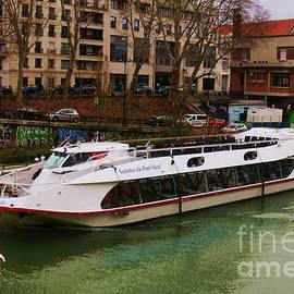 Tourist Boat On The Canal St. Martin, Paris by Poet's Eye