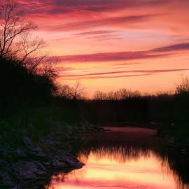 Pink and Orange Sunrise by Francis Sullivan