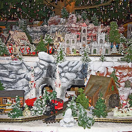 Toy Train Display Closeup by Sally Weigand