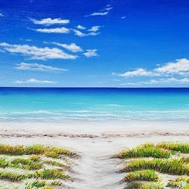 Tranquil Beach 24x36 by Jessica T Hamilton