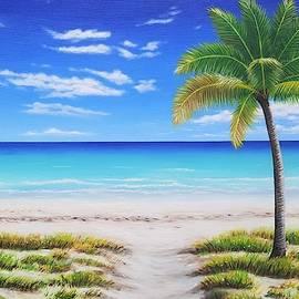 Tranquil Palm Beach by Jessica T Hamilton