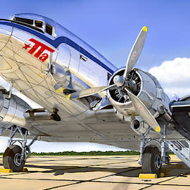 Trans Texas DC-3 by Brian Norwood