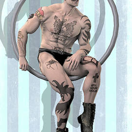 Trapeze Artist Solitary by Joaquin Abella