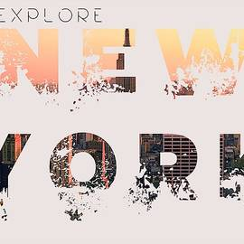 Travel New York Minimalist Travel Poster V3 by Adam Asar