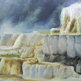 Travertine Terraces - Mammoth Hot Springs, Yellowstone National Park by Marsha Karle