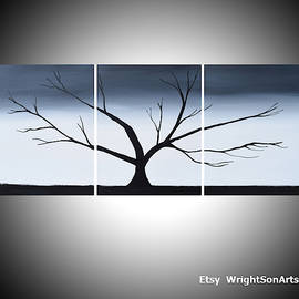 Tree Of Life In Gray Style by Stuart Wright
