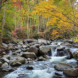 Tripping Waters in Autumn by Debra and Dave Vanderlaan