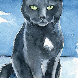 Trixie Cat Painting by Dora Hathazi Mendes