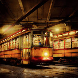 Trolley - Baltimore, MD - Watch your step please 1943 by Mike Savad