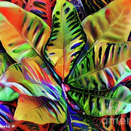 Colorful Tropical Leaves by Bunny Clarke