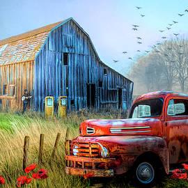 Truck in the Fog by Debra and Dave Vanderlaan