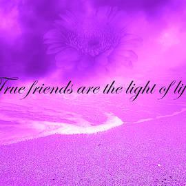True Friends Are The Light Of Life Purple Theme by Johanna Hurmerinta