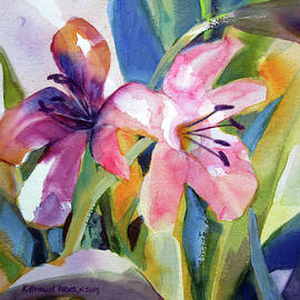 Trumpets of Lilies II by Kathy Braud