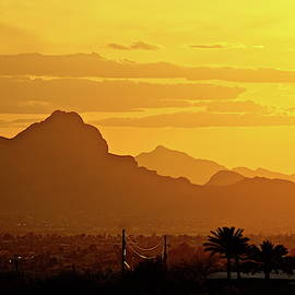 Tucson Mountains Copper Glow by Bonnie See