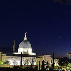 Tucson Temple Nighttime by Chance Kafka
