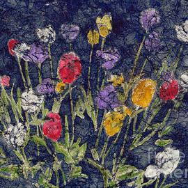Tulips Watercolor Batik by Conni Schaftenaar