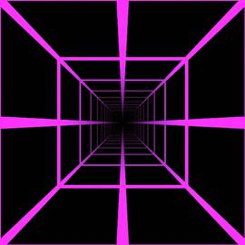 Tunnel Optical Illusion Pink by Don Northup
