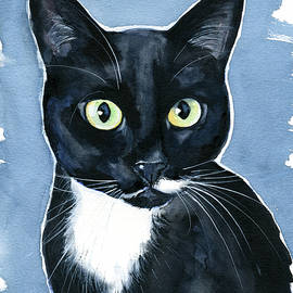Turhapuro Tuxedo Cat Painting by Dora Hathazi Mendes