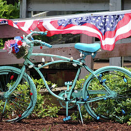 Turquoise Bicycle  by Cynthia Guinn