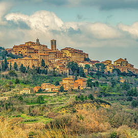 Tuscan Hill Town by Marcy Wielfaert
