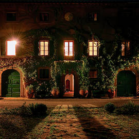 Tuscany Italy Villa Facade by Joan Carroll