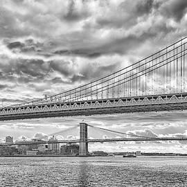 Two bridges black and white by Liran Eisenberg