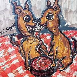 Two Chihuahuas In Love by Geraldine Myszenski
