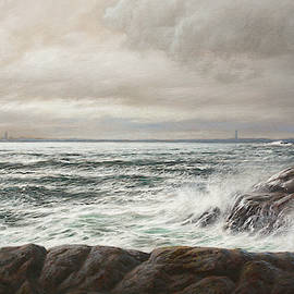 Two Lighthouses by Hans Egil Saele