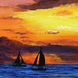 Two Sailboats by Darice Machel McGuire