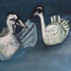 Edgeworth Dotblog - Two Swans