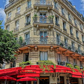 Typical Parisian Cafe by Patricia Caron