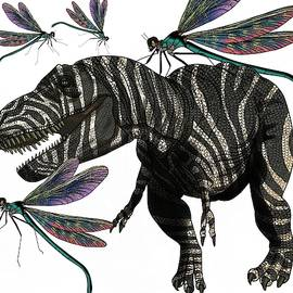 Tyrannosaurus and Dragonflies by Joan Stratton