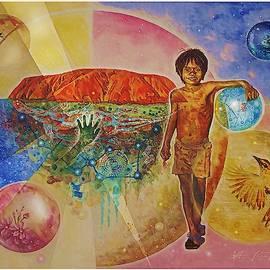 Uluru  Dreaming by Hartmut Jager