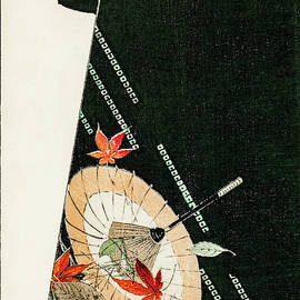 Umbrella Design Kimono - Japanese traditional pattern design