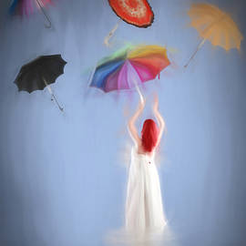 Umbrellas away by Sharon Lisa Clarke