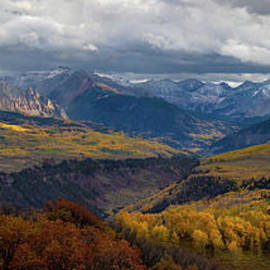 Uncompahgre Pano Sunset by Norma Brandsberg