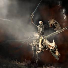 Undead Dragon And Skeleton Rider by Daniel Eskridge