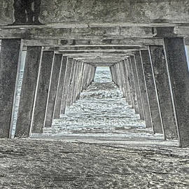 Under The Tybee Island Pier by Judy Hall-Folde