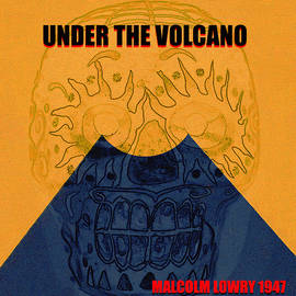 Under the Volcano minimal book cover art by David Lee Thompson