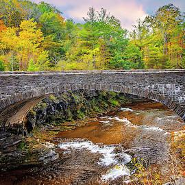 Upper Taughannock Bridge In Fall by Lynn Bauer