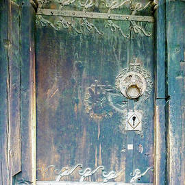 Urnes Stave Church Door by Norma Brandsberg