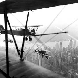 U.s. Army Air Corps Planes Fly Over New by New York Daily News Archive